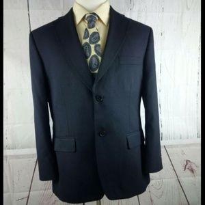 Haggar 42S Suit Blazer Sports Coat Dark Blue